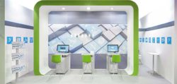Graphic: Example of a trade fair stand