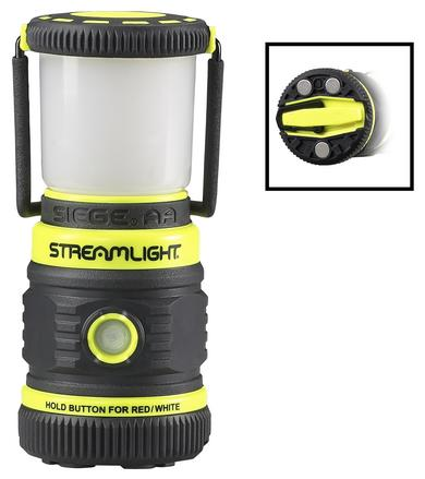 The Streamlight Siege® AA with Magnetic Base attaches securely to steel surfaces, making it ideal for industrial technicians who need hands-free lighting.