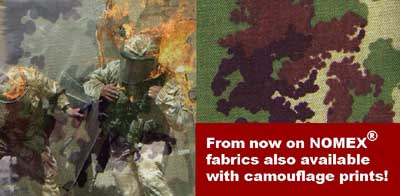 World sensation: Camouflage print on Nomex with IR-remission