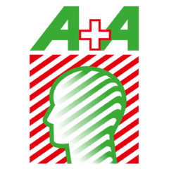 Logo: A+A Vertical (Lettering and visual)