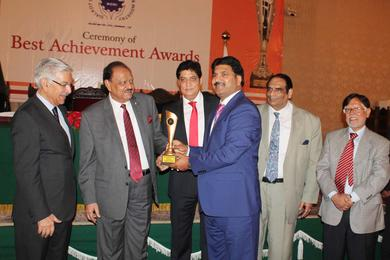 At the eve of receiving Achievement Award in Leather & Mechanics  gloves category by the President of Pakistan